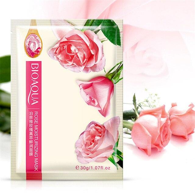 BIOAQUA 8Pcs/lot Natural plants Face Mask Facial Skin Care Face Moisturizing And Oil Control Essence Korean Cosmetics 5