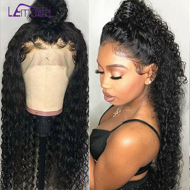 360 Lace Frontal Wig Pre Plucked With Baby Hair Malaysian Water Wave Wig Preplucked Lace Frontal Lemoda Human Hair Wigs Remy