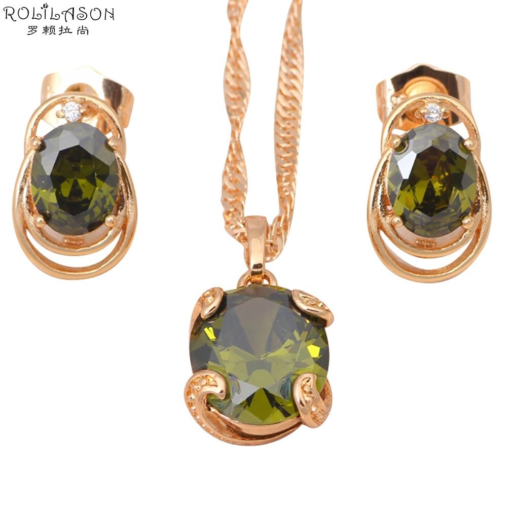 Nouveau Cadeau 18k plaqué or en alliage /& vert jade Boucles d/'oreilles Femme Clous d/'oreilles ronds 18*11 mm