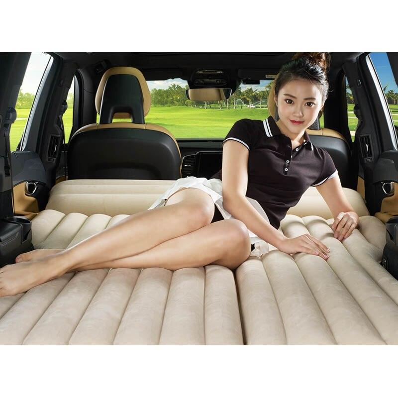 b057ec8a1 Coche cama inflable colchón coche trasero fila cama de viaje coche SUV  asiento trasero cama de aire colchón inflable con el coche eléctrico de la  bomba