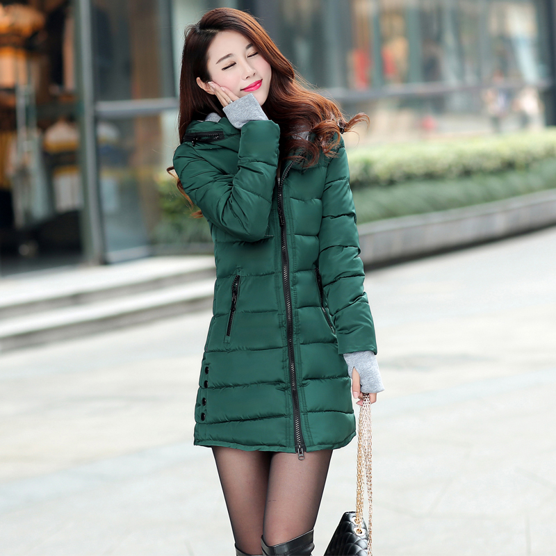 12 Colors Women Plus Size Female Hoodie Hooded Autumn Winter Long Sleeve Down Parka Slim Casual Quilted Chaquetas Jacket Coat 2