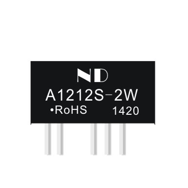 5pcs dc dc converter 12V to dual 12V 2w isolated dc-dc power supply module