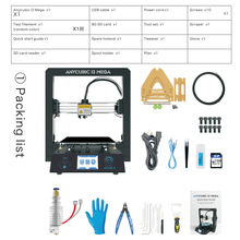 ANYCUBIC I3 Mega 3D Printer Plus Size Full Metal Frame Lattice Platform Desktop Nozzle 3d Drucker Filament Kit Industrial Grade