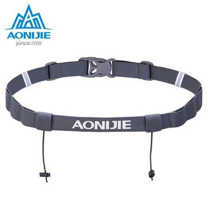 Aonijie Men Women Unisex Triathlon Marathon Race Belt With Gel Holder Running Elastic Reflective Flexible Number Canvas Belt