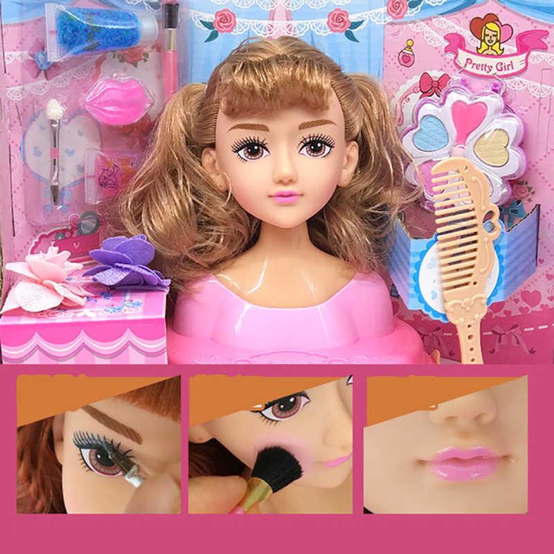 Куклы Барби девочка игрушка половина тела может макияж парикмахерские Барби принцесса детские подарки коробка набор аксессуары для Барби