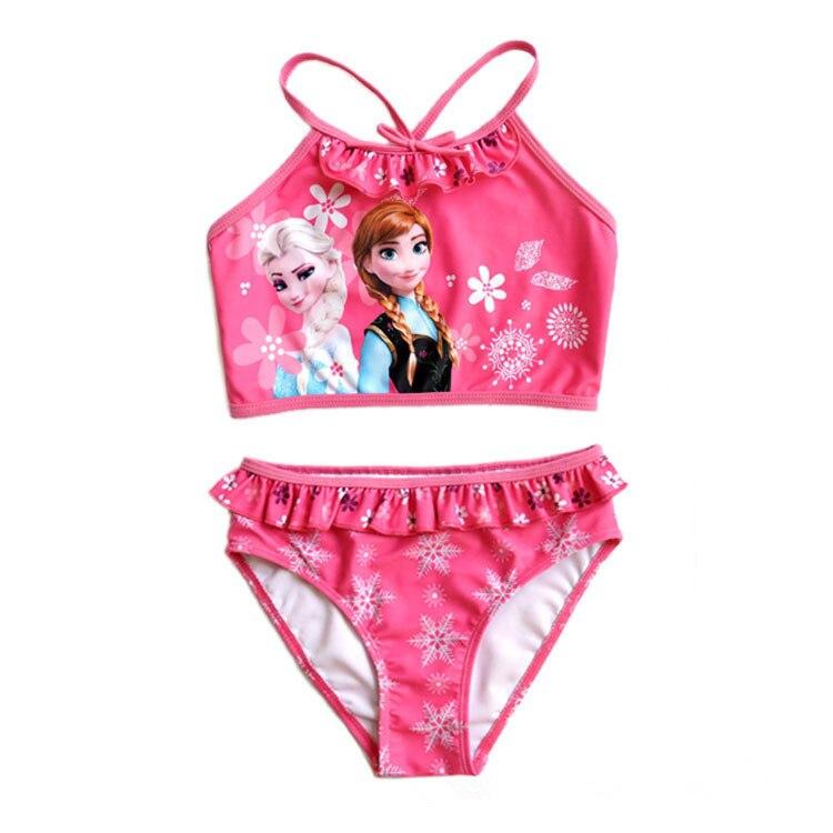Girls UV protection Swimwear Kid Child Swimsuit Bikini Bathing Suits Beachwear Two Pieces Swim - Kids & Baby World store