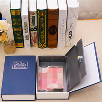 1Pcs Creative Metal Password Book Dictionary Money Coin Storage Box Safety Deposit Cash Box Secret Piggy