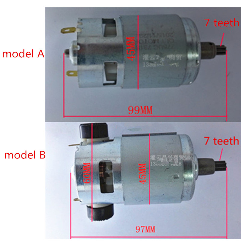 7 Teeth RS-775  Large Torque High-power Motor 775 DC16V 20V 21.6 24V 25V  For Impact Wrench  Power Tools Electrical  Drill