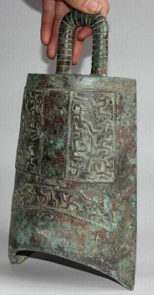 JP S62 12 Архаического Династия Китайский Дворец Бронзовый плоским Храм храм висит Колокол Чжун - 4