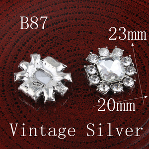 Image 3 - 120PCS Vintage Pentagram/round/flower Metal Rhinestone Buttons Bling Flatback Flower Centre Crystal Buttons for Hair accessories
