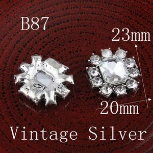 Image 3 - Botones de Metal con estrás, pentagrama Vintage/redondo/Flor, ostentosos botones de cristal para accesorios para el cabello, 120 Uds.