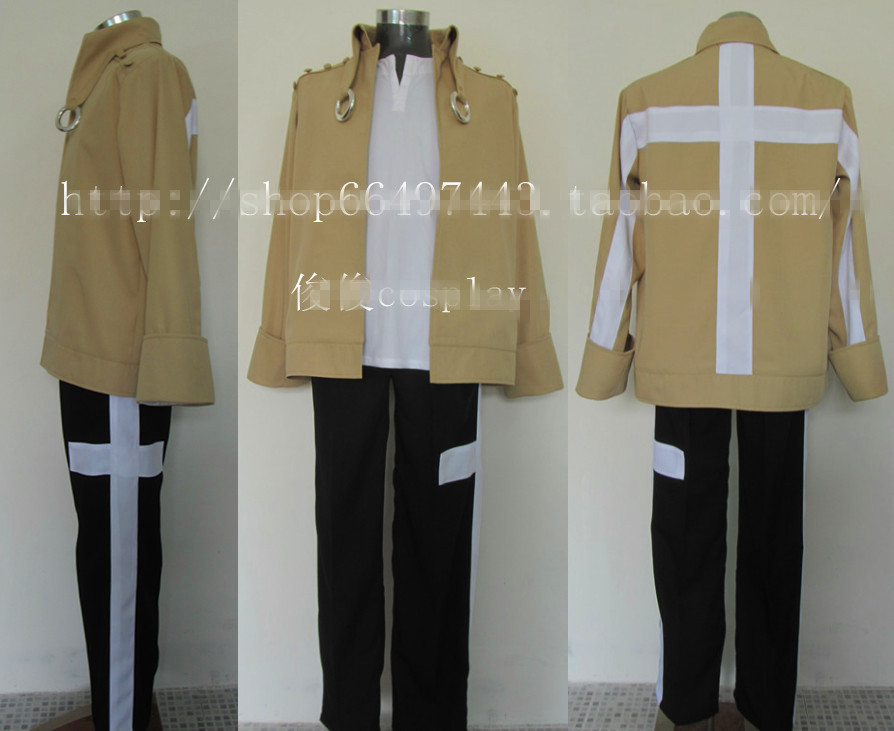 full metal Alchemist Scar Uniform Anime Party Cosplay Costume Any Size