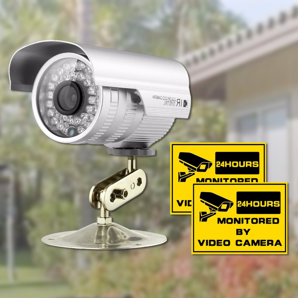 Security CCTV Camera 1/3'' CMOS 1200TVL 36 IR LED Color Night Vision Surveillance Camera Home Outdoor Waterproof Video Camera 1 3 sony cmos 1200tvl cctv security camera metal ip66 24 led color ir night vision surveillance home outdoor video camera