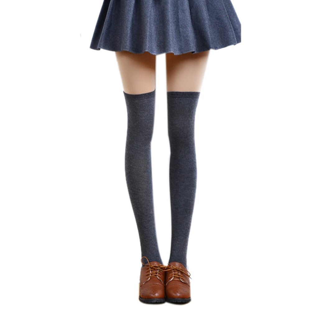 a7a3c10bd4 MUQGEW knee high socks girls long sexy socks for girls cotton Women Sexy  Thigh High Over The Knee Socks Long Cotton socks#y3