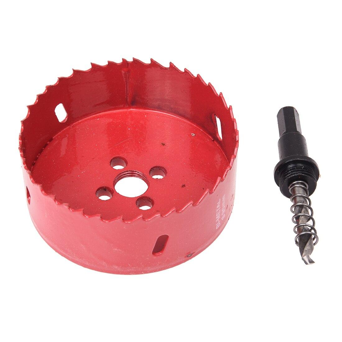 6mm Twist Drilling Bit Wood Iron Cutting 90mm Diameter Bimetal Hole Saw Cutter Tool
