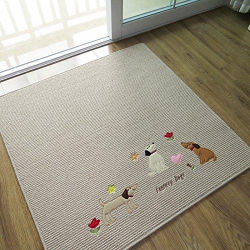 Cute Dog Panda Cat Design Area Rug Carpets For Living Room Table Mat Beige