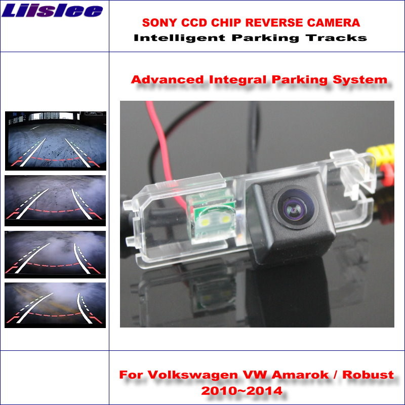 Liislee HD CCD caméra arrière pour Volkswagen Amarok robuste 2010 ~ 2014 voies de stationnement intelligentes sauvegarde inverse/NTSC RCA AUX