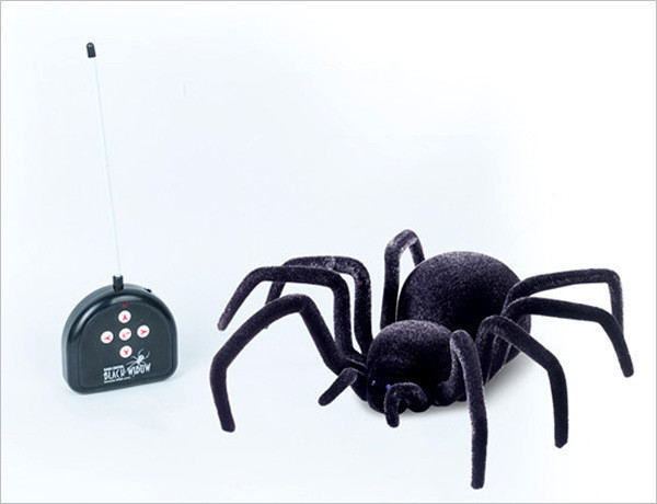 Independent Electronic Pet Remote Control Flash Tarantula Eyes Shine Smart 4ch Rc Black Spider Toy Tricky Practic Jokes Model Toys temila