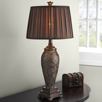 Retro Bed Room Table Lamp Luxtry Fabric Lampshade Living Room Decor Abajur Table lamp For Bedroom Lamparas De Mesa Free Ship