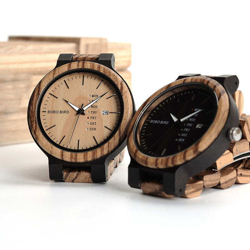O26-BOBO BIRD Fashion Wooden Calendar watch (3)