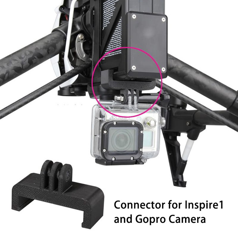 3D Printed Gopro Camera Holder on Inspire1 Camera Connector for Gopro and quadcopter Multicopter Drones