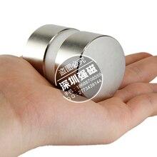 2 unids súper poderoso Dia 40mm x 20mm imán de neodimio de 40×20 disco posterior del imán de NdFeB tierra N52 imanes imanes