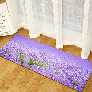 Image 5 - Tapete antideslizante Para puerta de baño tapete antideslizante Para Casa Alfombra Para la Sala de estar, color morado y lavanda, envío gratis
