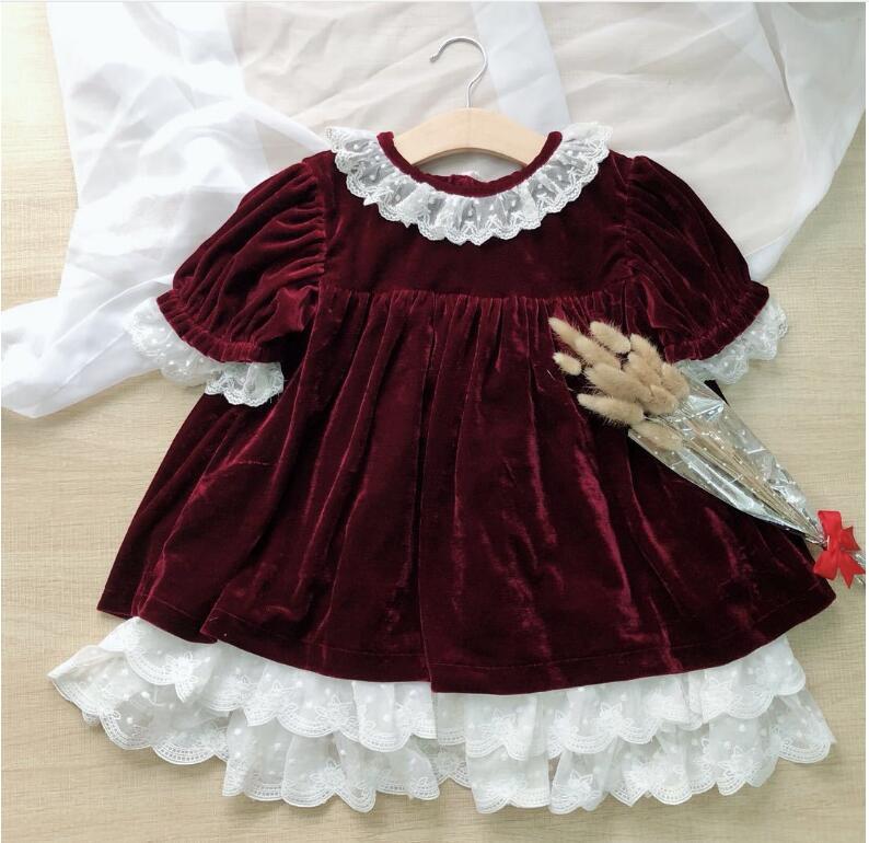 Y1852368 2018 Autumn Fashion Baby Girl Dress Girls Dress Lace Girls Princess Dress christmas santa Baby Dress Girls Clothes