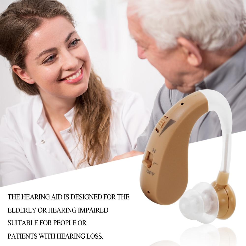 Mini taille prothèse auditive réglable sans fil prothèses auditives oreille amplificateur sonore oreille arrière Type Invisible