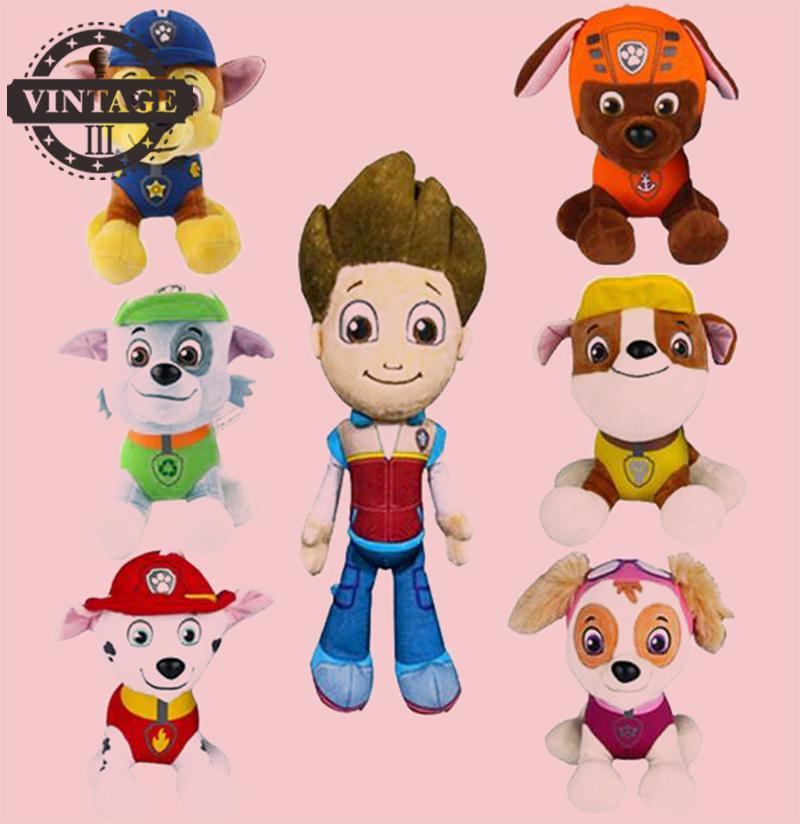 2017 Plush Toys Cartoon Movie Children Doll  Dog Toy Puppy Anime Canina Toy Soft Stuffed Animal Kids Baby Toy 20cm 5pcs lot pikachu plush toys 14cm pokemon go pikachu plush toy doll soft stuffed animals toys brinquedos gifts for kids children
