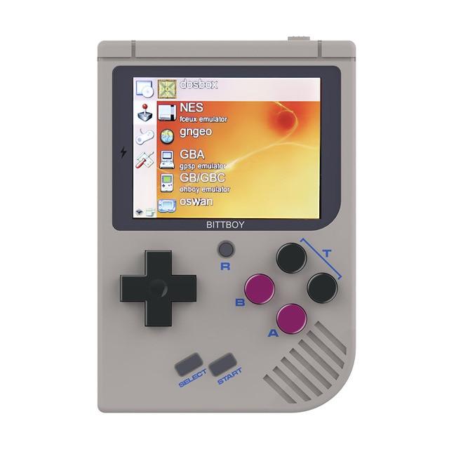 비디오 게임 콘솔 새로운 bittboy-version3.5-레트로 게임 휴대용 게임 콘솔 플레이어 진행 저장/부하 microsd 카드 외부