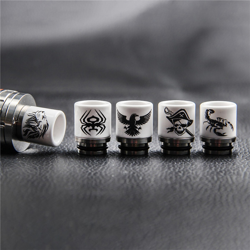 E Cigarette 810 Drip Tip Metal Ceramic Anti-Heating From Mouthpiece For Vape V12 RTA RDA Atomizer