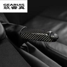 Стайлинга автомобилей углеродного волокна ручной тормоз держатель Накладка для BMW 3 серии GT E90 f30 f32 f34 f36 авто Интерьер тяга аксессуары