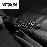 Car Styling Carbon Fiber Handbrake Holder Cover Trim For BMW 3 series GT E90 f30 f32 f34 f36 Auto Interior Pull Rod Accessories