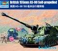 Trompetista 1/35 00324 Britânico AS-90 Howitzer de Auto-Propulsão de 155mm kit modelo de plástico