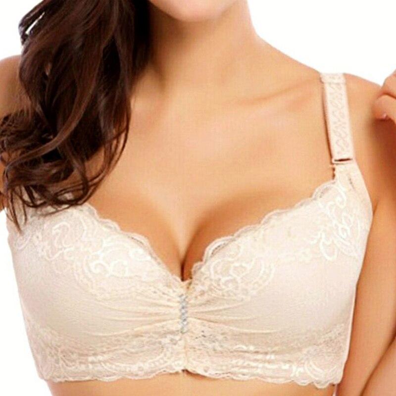 4a1d66393b Sexy Lace Adjustable Women BH Push Up Bra Lingerie Sheer Bra Bralette Plus  Size Bras For Women Underwear