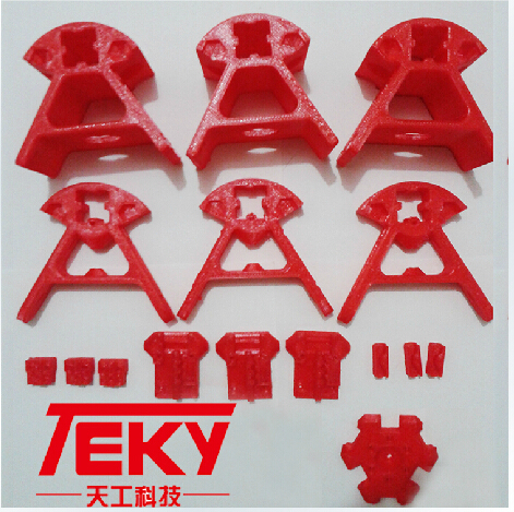 ФОТО Reprap Kossel delta rostock 3 D printer parts printed parts PLA for 2020 aluminium profile free shipping