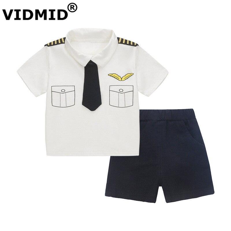 Vidmid niños boys que arropa niños bebés tops + pantalones cortos de verano conj