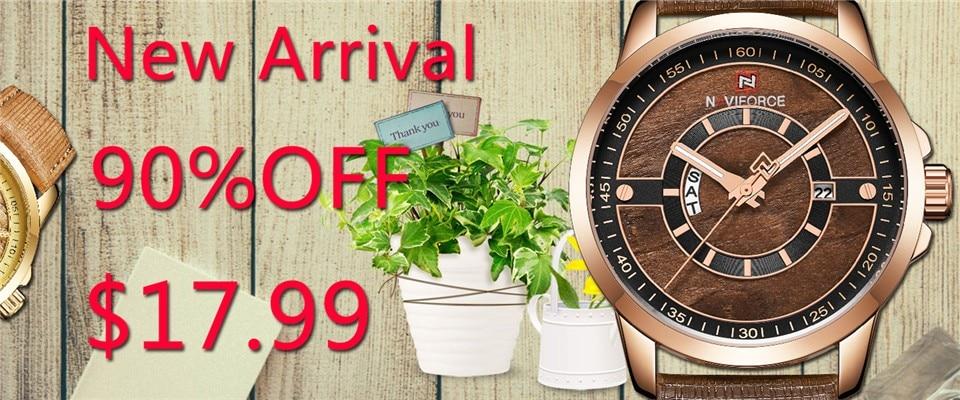 Mens Watches Top Brand Luxury NAVIFORCE Sport Men's Quartz Watch Waterproof Wristwatch Leather Male Clock Relogio Masculino 2
