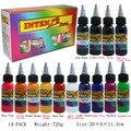 Color de la tinta del tatuaje kit de 14 colores micropigmento pigmento maquillaje permanente maquillaje linaje conjunto pigmento del tatuaje 30 ML