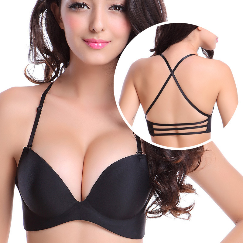 bd86b3c883a Hot Woman One Piece Racerback Bras Sets Bandage Back Strappy Bralette Women  Sexy Seamless Lingerie Underwear Panties Brassiere
