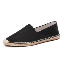 New 2018 Fisherman Boats Shoes Spring Summer Loafers Hemp Canvas Sneakers Breathable Men's Flats Casual Shoes Espadrilles