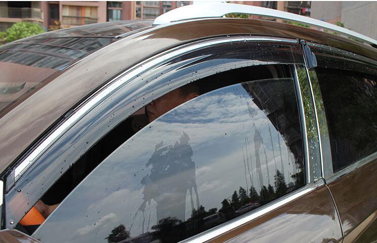 цены car window rain visor for Mitsubishi outlander 2013 2014 2015 2016, Chrome type