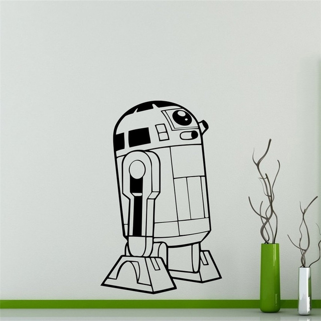 wall decal star wars universe vinyl sticker robot home decor interior removable decor custom decals wall