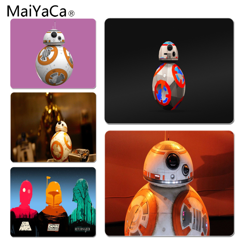 MaiYaCa Top Quality BB-8 Droid Customized laptop Gaming mouse pad Size for 18x22cm 25x29cm Rubber Mousemats