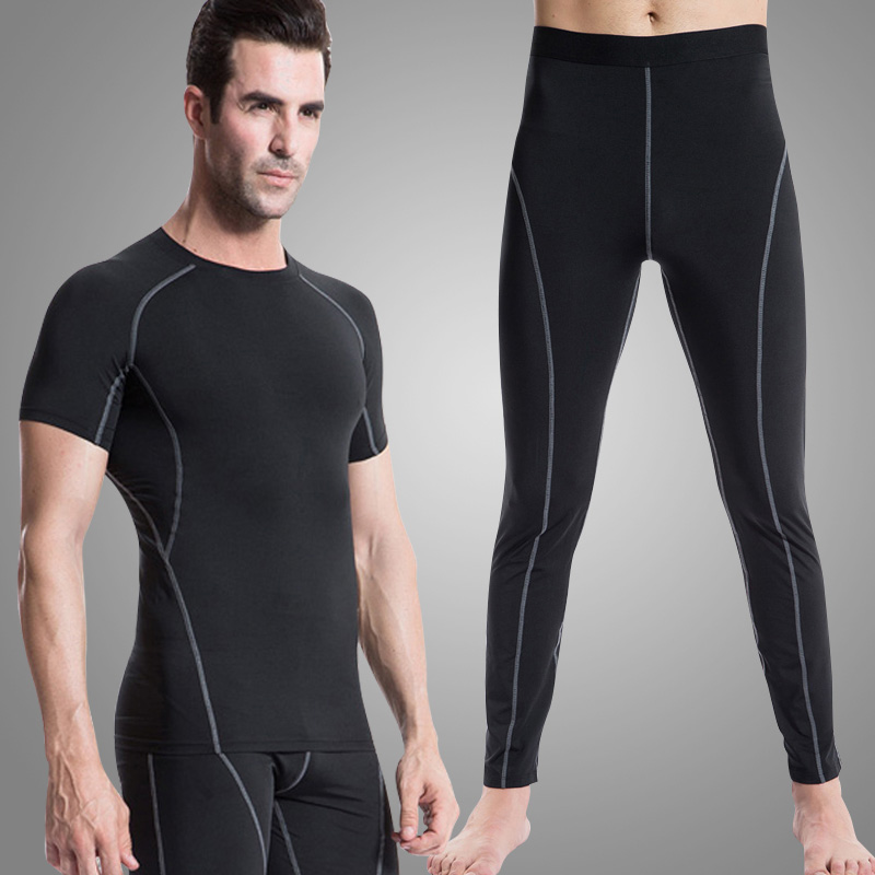 Mens Sports Running Suits Men Tracksuit Summer Wear Quickly Dry