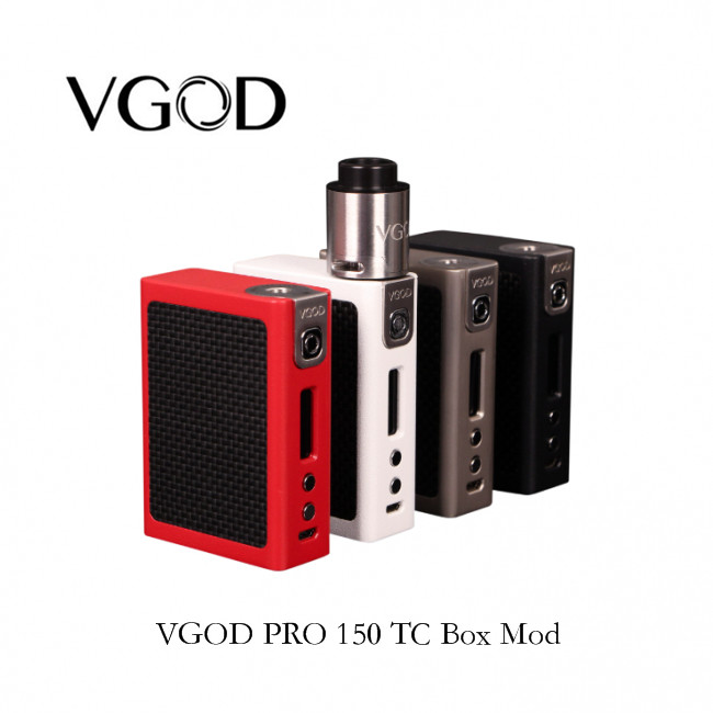 100% Original VGOD PRO 150 TC Box Mod Igniting clouds 150W electronic cigarette Mod builds as low as 0.07 ohms in MECH mode