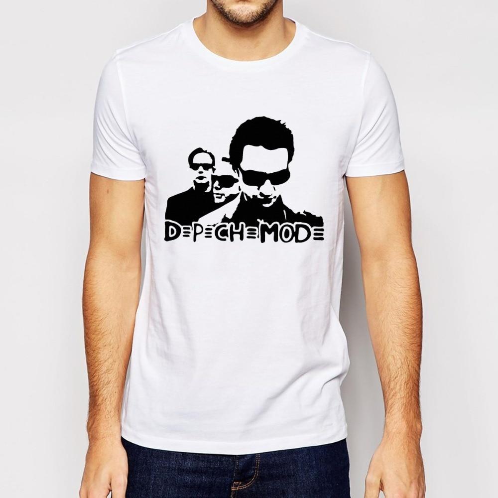 depeche mode T Shirt Fashion Trend T Shirts Men Cotton O Neck Man ...