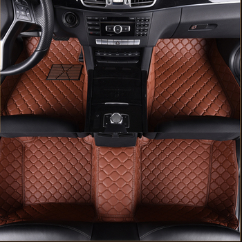 Car floor mats Case for Jeep Grand Wrangler Commander Compass Patriot leather Anti-slip car-styling carpet liner
