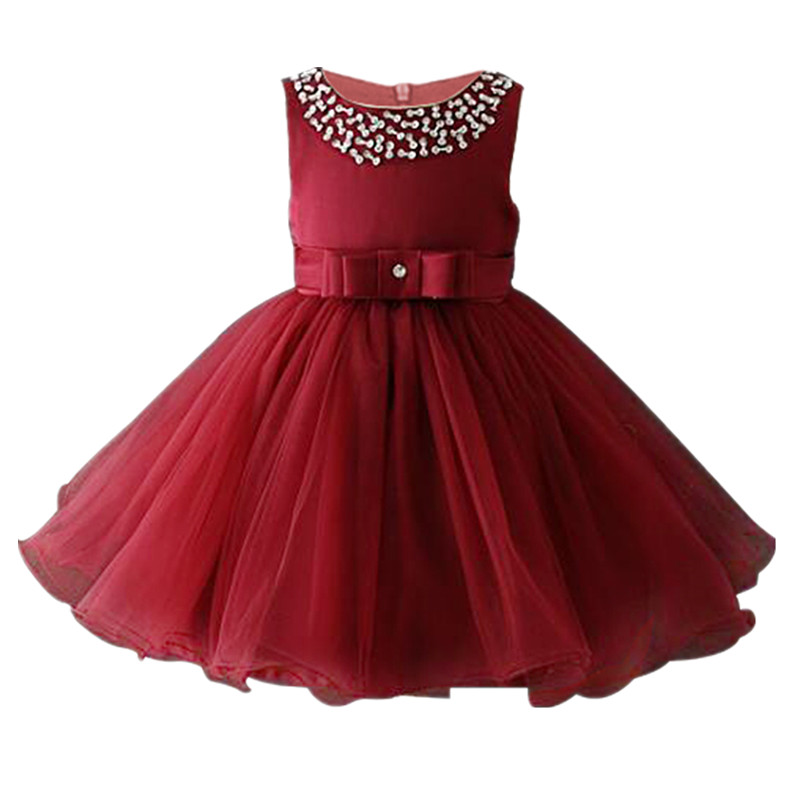 Kids Girl Party Dresses 2018 Birthday dress 3-12Y Teen Girls Princess Costume Sleeveless Wedding Dress For Children Clothing